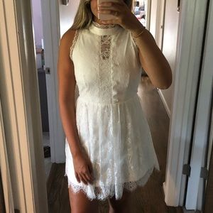 WORN ONCE Francesca's Cute White Lace Dress